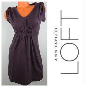New Ann Taylor LOFT Small Petite SP DRESS Purple